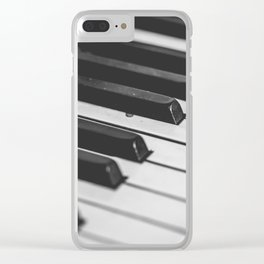 Vintage piano Clear iPhone Case