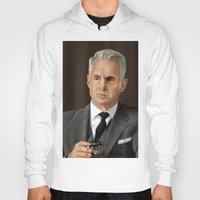 mad men Hoodies featuring Roger Sterling (Mad Men) by San Fernandez