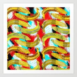 Banana Madura. Art Print