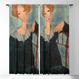 Amedeo Modigliani - Woman with Red Hair Blackout Curtain
