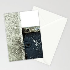 White Blue Concrete Stationery Cards