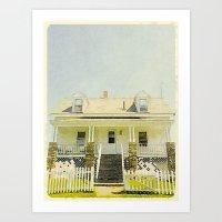 Pemaquid Point Lightkeepers House, Maine Art Print