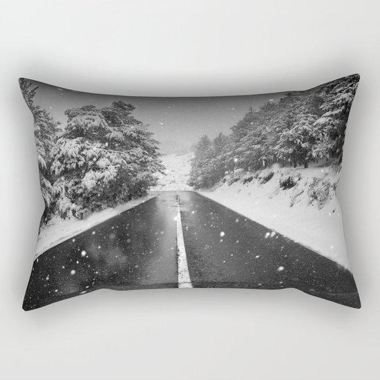 """The road"". Bw Rectangular Pillow"