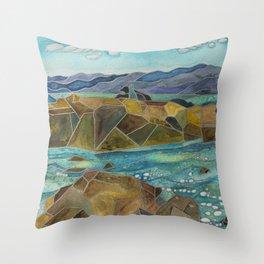 La Jolla Sea Lions Throw Pillow
