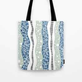 Swirly Lanes Tote Bag