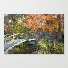 Woodward Park Bridge in Autumn - Tulsa Oklahoma Canvas Print