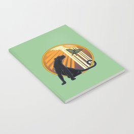 Jaguar Plain Art Deco Notebook