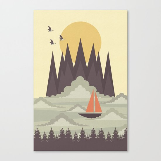 Over the Clouds Canvas Print