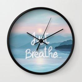 Just Breath... Wall Clock