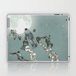 Flight of the Salary Men (color option) Laptop & iPad Skin