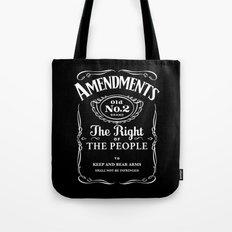 2nd Amendment Whiskey Bottle Tote Bag