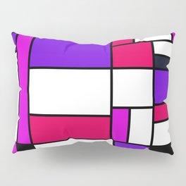 Bauhouse Mondrian Style Purple Pillow Sham