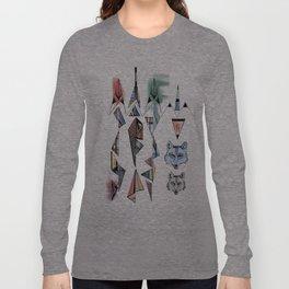 Mountian Wolves  Long Sleeve T-shirt