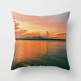 Pure Sunset Throw Pillow
