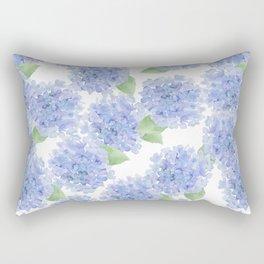 Elegant lavender lilac watercolor hydrangea floral Rectangular Pillow