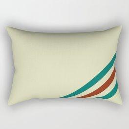 Vintage Racing Stripe Rectangular Pillow