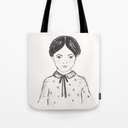 A little girl and the stars Tote Bag