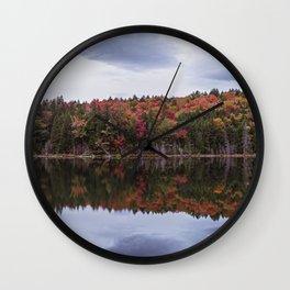 Autumn reflection Panorama Wall Clock