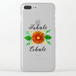 Inhale & Exhale Mandala Clear iPhone Case