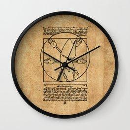 Vitruvian Gerbil Wall Clock