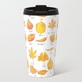 yellow leaves collection Travel Mug