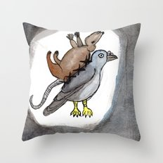 Pigeon Rat Throw Pillow