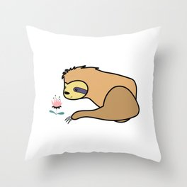Cute Character Sloth Throw Pillow