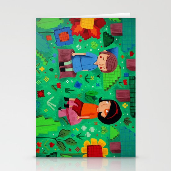 Pixel Garden Stationery Cards