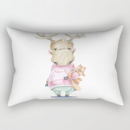 ELK and Fox Rectangular Pillow