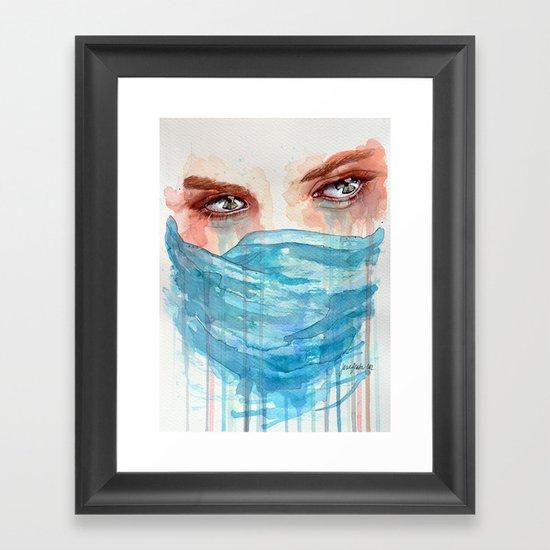 Forgotten, watercolor painting Framed Art Print