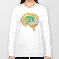 brain Long Sleeve T-shirts featuring Brain by FACTORIE