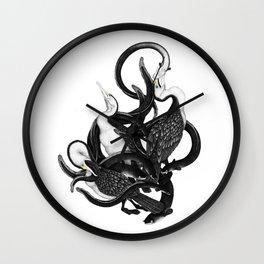 New Zealand pied Shags and Eels Wall Clock