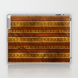 African Ethnic Tribal Pattern in golds and brown Laptop & iPad Skin