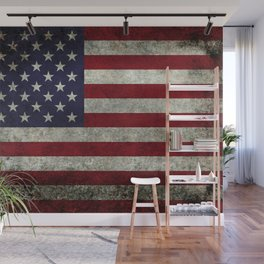 USA flag with Grungy textures Wall Mural