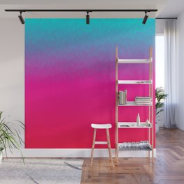 Blue purple and pink ombre flames Wall Mural