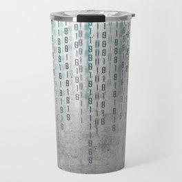 Concrete Binary Code Travel Mug