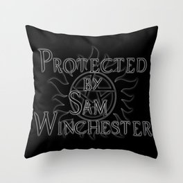 Protected by Sam Winchester Throw Pillow