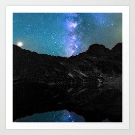 Milky Way Mountain Art Print