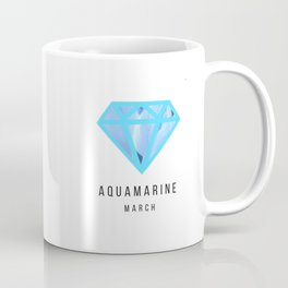 Aquamarine birthstone mug - March Coffee Mug