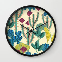 Tropical day pattern Wall Clock