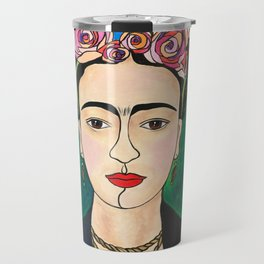 Frida Khalo Portrait Travel Mug
