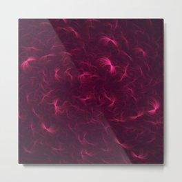Abstract Fractal Design 6 - Soft Purple Red Lights  Metal Print