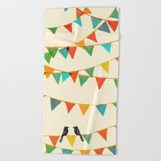 Carnival is coming to town Beach Towel