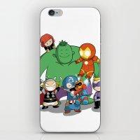avenger iPhone & iPod Skins featuring The Baby Avenger-s by Tsuki-Nekota