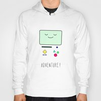bmo Hoodies featuring Adventure! BMO by CLOD