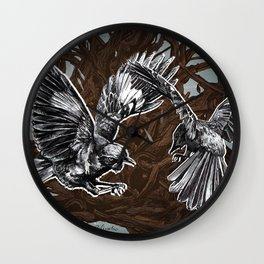Fight or Flight Wall Clock