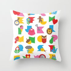 ABCs Gumball Throw Pillow