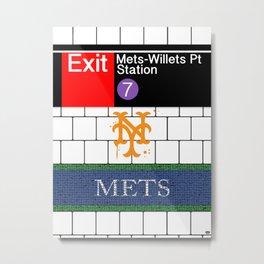 NYC Mets Subway Metal Print
