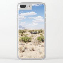Salt Flat, Texas Clear iPhone Case