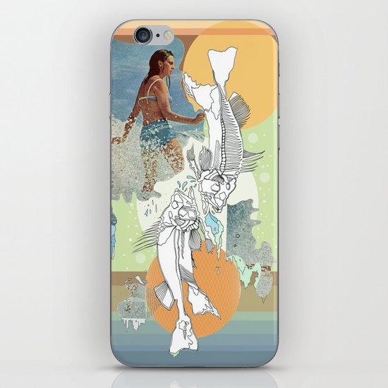 skeleton surf iPhone & iPod Skin